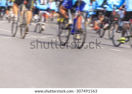 Motion blurred biker in the city
