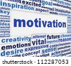 Motivation message background. Inspiration poster conceptual design - stock