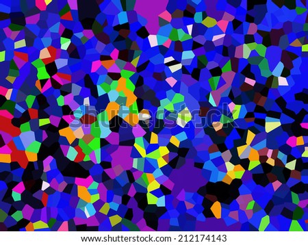 Motley crystallized abstract
