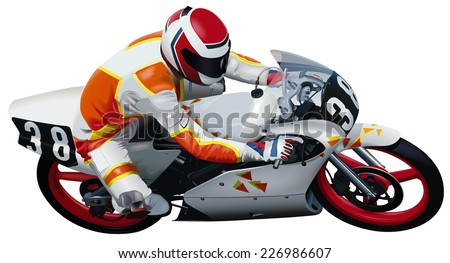 Motorcycle - Colored Illustration
