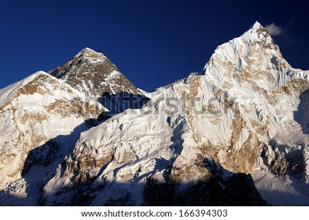 Mount Everest and Nuptse, Khumbu region, Nepal