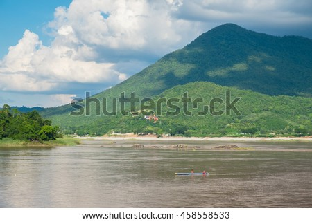 Mountain and river landscape