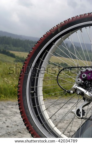 mountain-bike close up