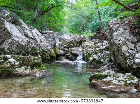 Girlish reaches mountain altai river kumir stock photo 405390664 shutterstock for Outdoor swimming pool near slough