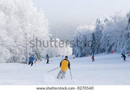 bukovel ski resort stock photo 168748598 shutterstock. Black Bedroom Furniture Sets. Home Design Ideas