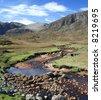 Mountain Stream, Isle of harris, Outer Hebrides - stock photo