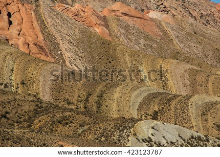 Mountains of Humahuaca colours