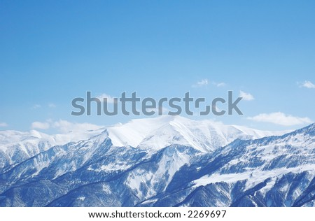 Mountains under snow in winter  - Georgia, Gudauri