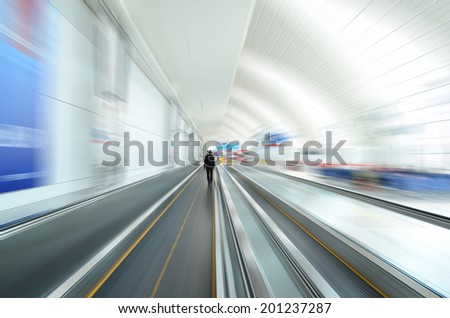Movement of a traveller in the airport