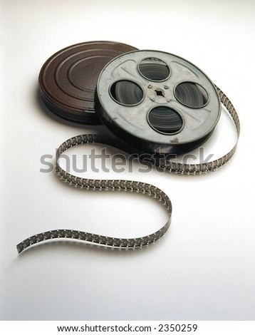 Movie Film on reels unwinding