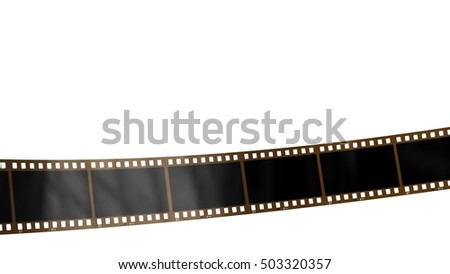 movie filmstrip isolated on white - 3d rendering