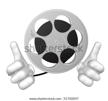 Movie maker mascot icon figure