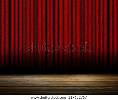 Movie or theater curtain with soft shades