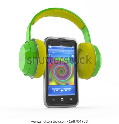 mp3 player, music, smartphone concept