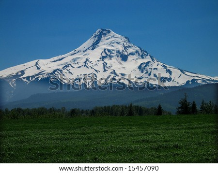 Mt. Hood from Parkdale Oregon
