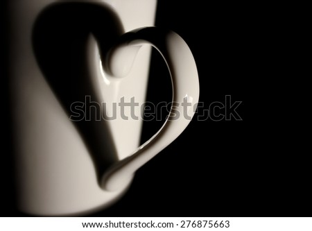 Mug handle reflection of heart