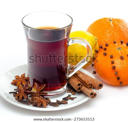 Mulled Wine, Tea, Wine.