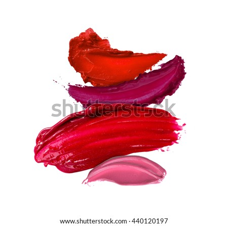 multi color lipstick smudged background