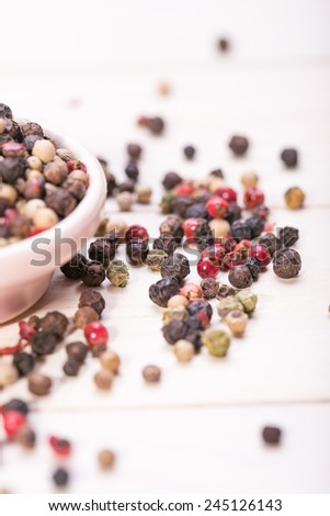 Multi color pepper seeds, hot spices
