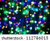 Multicolor bokeh circle background (illumination garland decoration) - stock photo