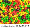 Multicolored candies. Decoration background. Closeup. - stock photo