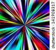 Multicolored pinpoint explosion on black. - stock photo
