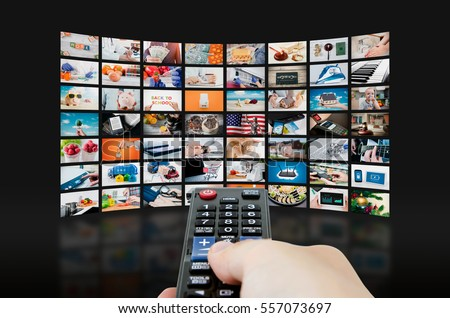 Multimedia Video Wall Television Broadcast Multimedia Stock Photo ...