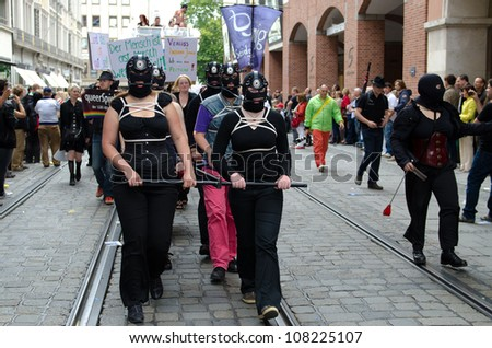 MUNICH - JULY 14: Participants at the at the Christopher Street Day (Gay Pride) in Munich on July 14, 2012.
