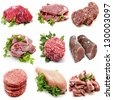 Mural various meats - stock photo