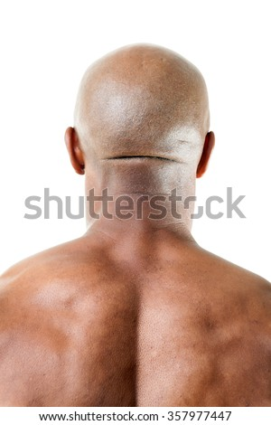 Muscular Mans Back of Head