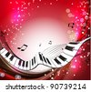Music background. Rasterized version - stock photo