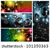 Music Club banners set for disco dance international event with a lot of design elements. Ideal for posters, flyers and advertising panels. - stock vector