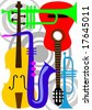 Music instruments abstract elements - stock