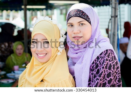 Muslim girl on wedding event