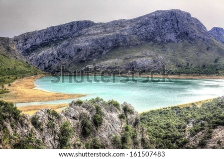 Mystic lake in Majorca mountains