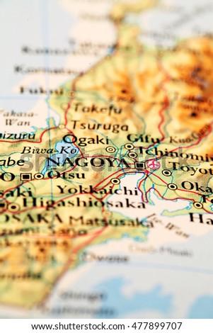 Cairo egypt on atlas world map stock photo 477899698 shutterstock nagoya japan on atlas world map gumiabroncs Gallery