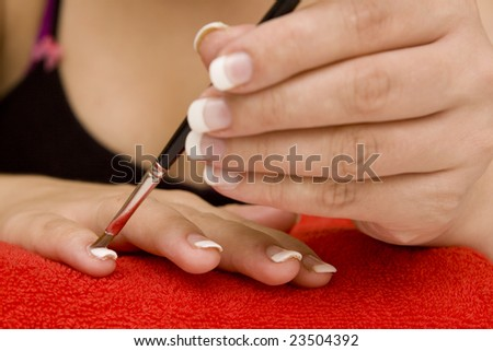 Nail care on a white background