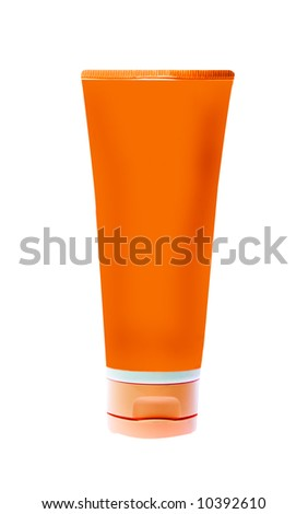 nameless plastic bottle for beauty product on white background (put on your own label)