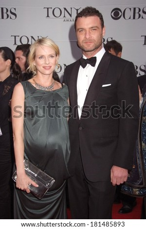 Naomi Watts, Liev Schrieber at 2007 American Theatre Wing TONY AWARDS ,Radio City Music Hall at Rockefeller Center, New York, NY, June 10, 2007