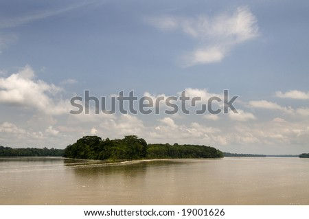 Napo River in Ecuador's amazon basin