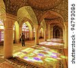 Nasir ol Molk Mosque in Shiraz, Iran. It was built in 1888 and is known in Persian as Masjed-e Naseer ol Molk. - stock photo