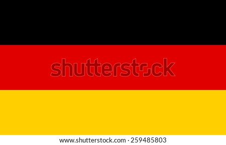 National flag of the Federal Republic of Germany.