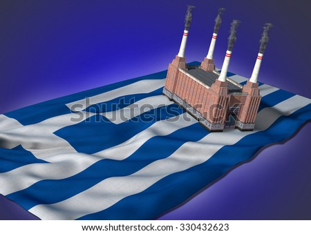 national heavy industry concept - Greek theme