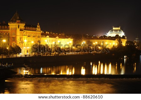 National Theatre in Prague . Czech Republic.