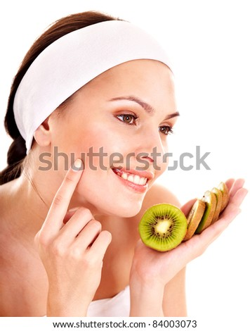 Natural homemade fruit  facial masks . Isolated.
