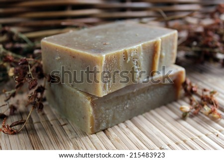 Natural organic handmade herbal soap/Soap/handmade