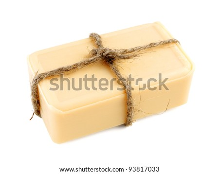 Natural soap isolated on white background
