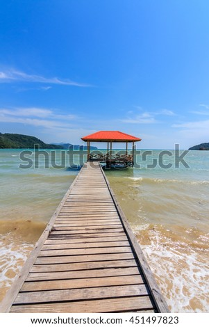 nature soft focus of wooden jetty background blur wallpaper at borneo