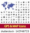 Navigation map icons set. Vector version also available in my portfolio. - stock vector