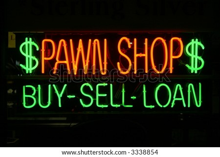 "neon sign series ""pawn shop"" ""buy-sell-loan"""